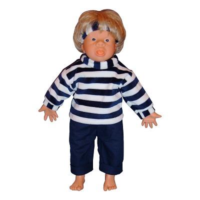 Down-Syndrom Puppen, Junge, offener Mund