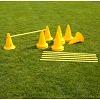 Set Kegel-Hürden, 30 cm Kegel, Gelb