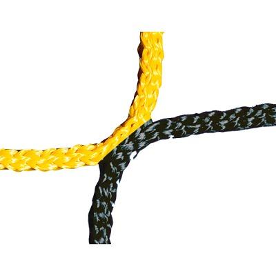 Knotenloses Herrenfußballtornetz 750x250 cm, Schwarz-Gelb