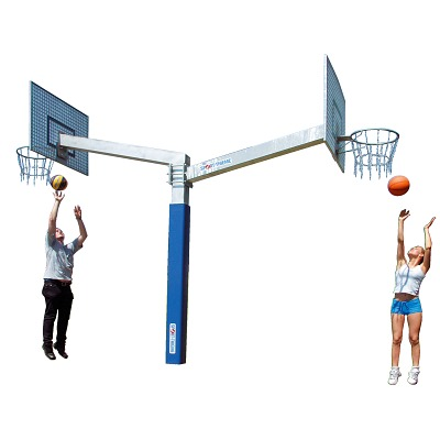 Sport-Thieme® Basketballanlage Fair Play Duo´´, Korb ´´Outdoor´´, Zielbrett: Aluminium´´