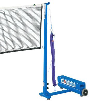 Sport-Thieme Badminton-Pfosten mit Zusatzgewichten, Flaschenzugsystem