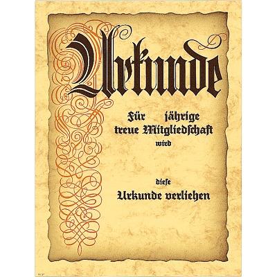 Urkunde Jubiläum und Mitgliedschaft´´, 24x32 cm...