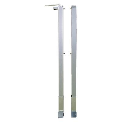 Paar Badmintonpfosten mit innenliegender Spannmechanik, Quadratprofil 80x80 mm