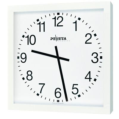 Peweta Großraum-Wanduhr 50x50 cm, Netzbetrieb, Standard, Zifferblatt arabische Zahlen