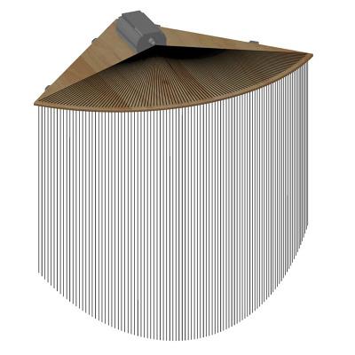 Eck-Element für Faseroptik-Stränge