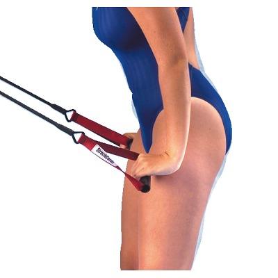 StrechCordz mit Handschlaufen, Rot,  Zugstärke 5,4-14,1 kg