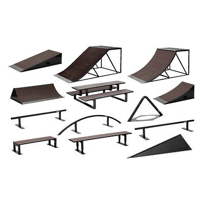 Komplett-Set mobile Skateanlagen