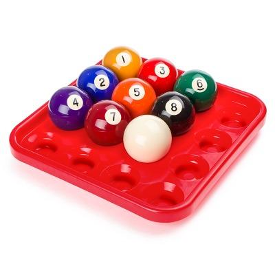 Balltablett für 16 Pool-Kugeln, Rot