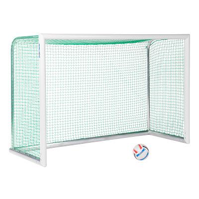 Sport-Thieme® Alu-Mini-Trainingstor ´´Professional Kompakt´´, Weiß-Pulverbeschichtet, Inkl. Netz, grün (MW 4,5 cm), 2,40x1,60 m