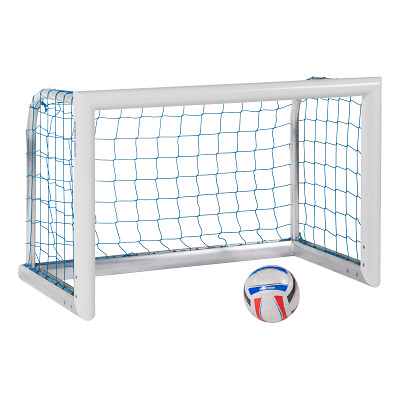 Sport-Thieme® Alu-Mini-Trainingstor Professional Kompakt´´, Weiß-Pulverbeschichtet, Inkl. Netz, blau (MW 4,5 cm), 1,80x1,20 m´´