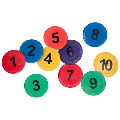 Bunte Bodenmarkierungen, Zahlen 1-10