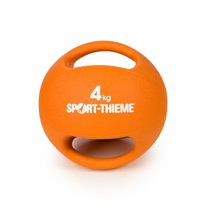 Sport-Thieme Medizinball mit Griff, 4 kg, Orange