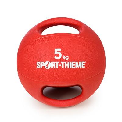 Sport-Thieme Medizinball mit Griff, 5 kg, Rot