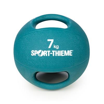 Sport-Thieme Medizinball mit Griff, 7 kg, Hellblau