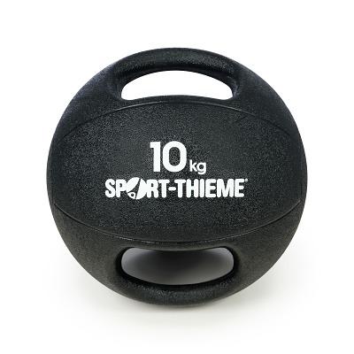 Sport-Thieme Medizinball mit Griff, 10 kg, Schwarz