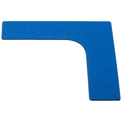 Sport-Thieme Sport-Thieme Bodenmarkierung / Restposten, Blau, Ecke, 26 cm