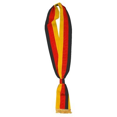 Schärpen, Schwarz-Rot-Gold, 7,5x190 cm