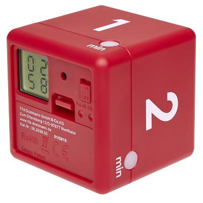 "TFA Digitaler Timer ""Cube"", Rot"