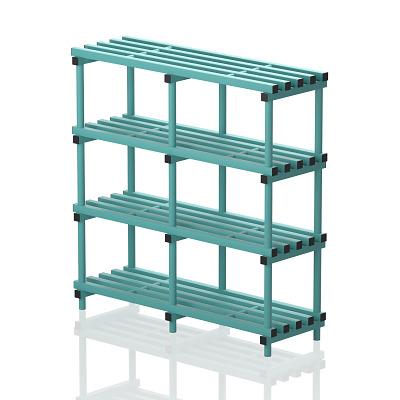 "Frei stehendes Kunststoff-Regal ""Schwimmbad"", 150x50 cm, Aqua"