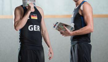 Fotoshooting: Beach-Volleyball-Duo Kay Matysik und Jonathan Erdmann