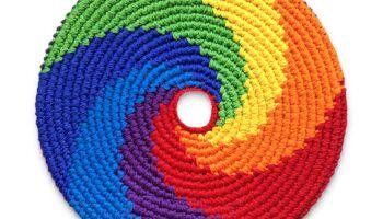 Unsere Neuheiten: Wurfscheibe Pocket Disc Rainbow