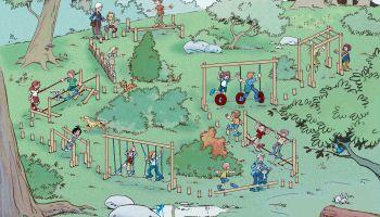 Spielplatzgeräte im Herbst - Jetzt Warten und Inspizieren