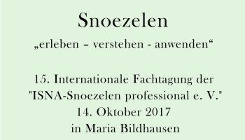 Einladung zur 15. Internationalen Fachtagung der ISNA