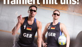 Gewinnspiel: Beachvolleyballprofis trainieren mit euch!