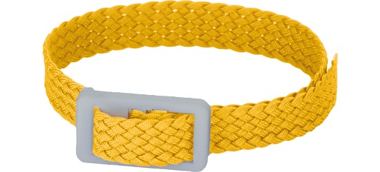 Garderoben- und Schlüsselband Gelb