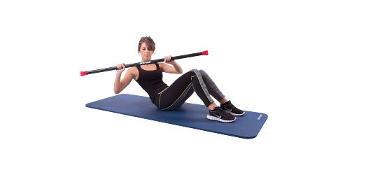 Sport-Thieme® Steel Weighted Bar 3 kg, Rot
