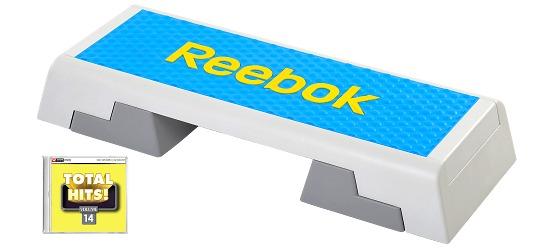 """Reebok® Step mit CD """"Total Hits"""" Semi-professionell, Cyan"""