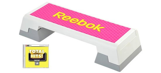 """Reebok® Step mit CD """"Total Hits"""" Semi-professionell, Magenta"""