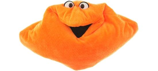 Living Puppets® Wunschtraum-Kuschelmuschelkissen Orange