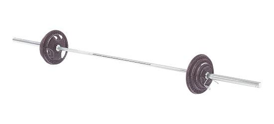 Sport-Thieme® Langhantel Set 50 mm, 60 kg oder 85 kg Gusseisen, 60 kg