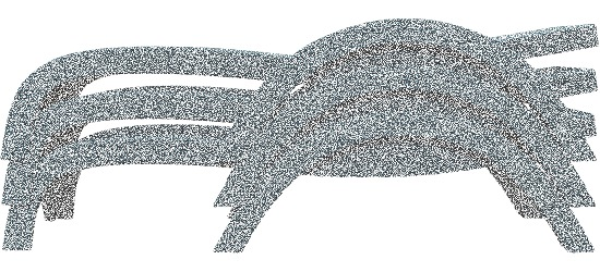 "Vollkunststoff-Korbgeflechtliege ""Fidji"" Anthrazit"