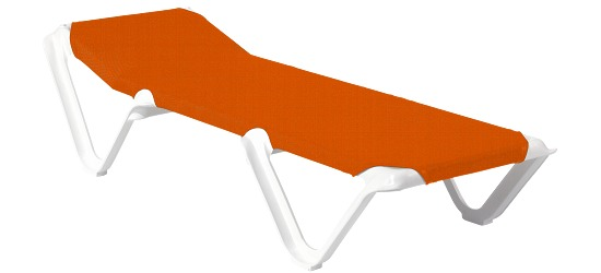 "Kunststoff-Bäderliege ""Eva"" Festes Kopfteil, Orange"