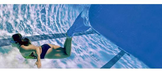 Finis® Monoflosse Meerjungfrauen für Erwachsene Blau