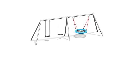 Playparc Kombischaukel Metall mit Vogelnest Aufhängehöhe 220 cm