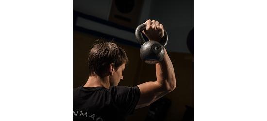 Sport-Thieme® Kettlebell Hammerschlag, lackiert, Grau 8 kg