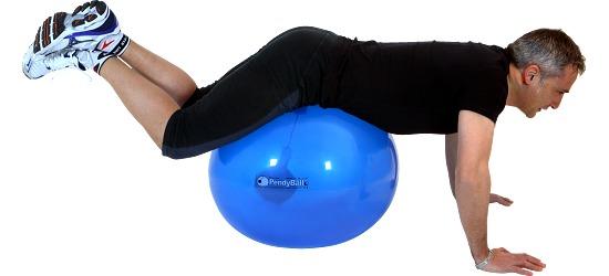 PendyBall by Ledragomma® Original Pezzi® ø 65 cm, 4 kg, Blau-Transparent