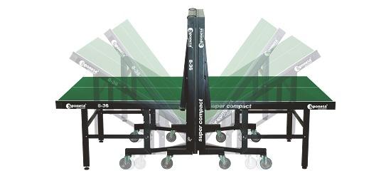 """Sponeta® Tischtennisplatte """"S 8-36 / S 8-37"""" Grün"""