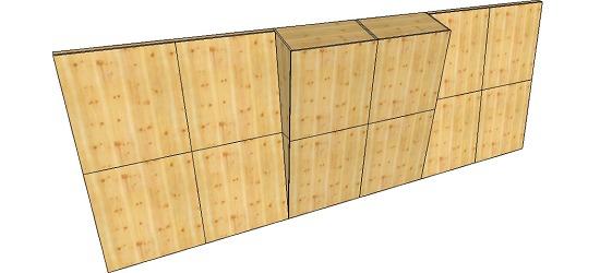 "OnTop® Boulderwand-Bausatz ""Indoor Natur Pur"", Höhe 2,98m 744 cm, Mit Überhang"