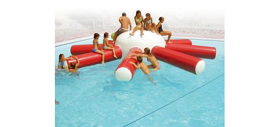 """Airkraft® Wasserspielgerät """"Octopus"""" 600x600x120 cm, 45 kg"""