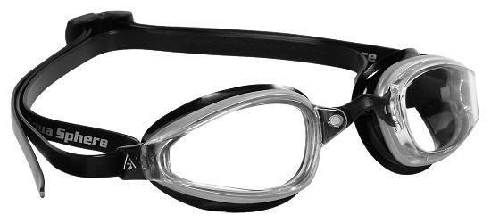 """Aqua Sphere® MP™ Schwimmbrille """"K180"""" Transparent Schwarz/Silber"""