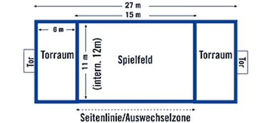 Beach Handball Court Border  FUN, 27x12 m/25 mm