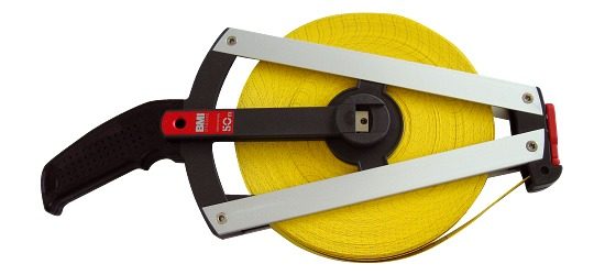 BMI Single-Sided Fibreglass Measuring Tape 50 m, Frame