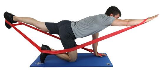 "CanDo Multi-Grip Fitnessband ""Exerciser Rolle"" Rot, medium"
