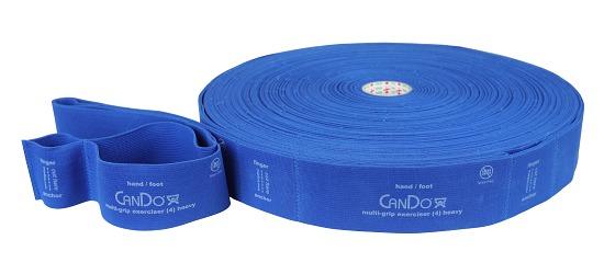 "CanDo Multi-Grip Fitnessband ""Exerciser Rolle"" Blau, extra stark"