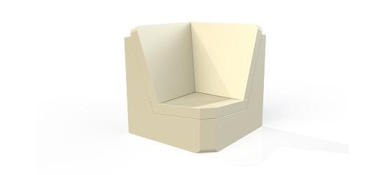 Chatsworth møbler med vinyl betræk Høj ryg, Hjørneenhed