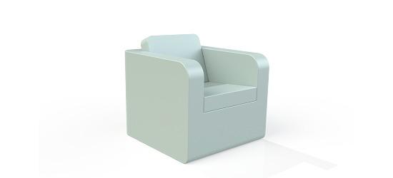 Chatsworth møbler med vinyl betræk Lav ryg, Stol